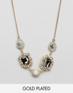Броское ожерелье с камнями Johnny Loves Rosie - Золотой