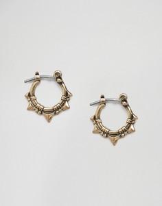 Серьги-кольца с треугольными шипами ASOS - Золотой
