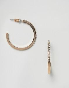 Серьги-кольца с кристаллами ASOS - Прозрачный
