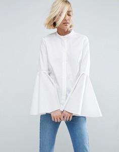 Рубашка с рукавами-колокол ASOS WHITE - Белый