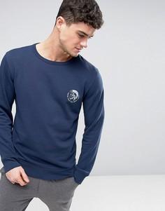 Темно-синий классический свитшот с круглым вырезом и логотипом Diesel - Темно-синий
