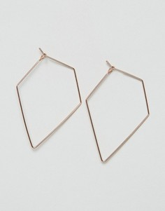 Серьги-кольца в виде треугольников ASOS - Медный