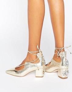 Туфли на каблуке ASOS SALOON - Золотой