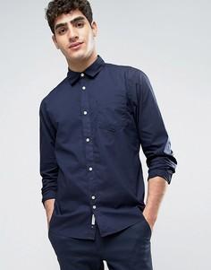 Рубашка классического кроя из выбеленного хлопка Bellfield - Темно-синий