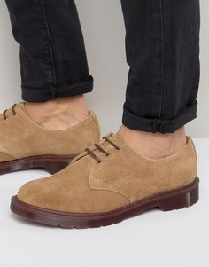 Замшевые туфли Dr Martens Made In England 1461 - Бежевый