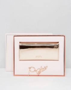 Подарочный набор с бумажником и брелоком для ключей Ted Baker - Золотой