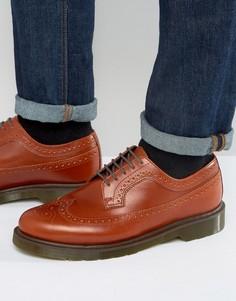 Светло-коричневые броги Dr Martens 3989 - Рыжий