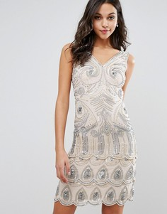 Платье мини с отделкой пайетками Frock and Frill - Розовый