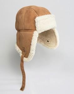 Шапка-ушанка из овечьей шерсти Jack Wills - Коричневый