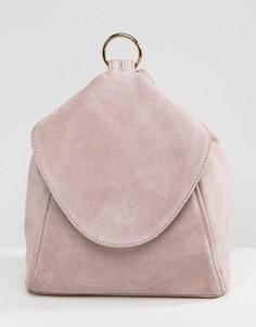 Замшевый рюкзак с кольцом ASOS - Фиолетовый