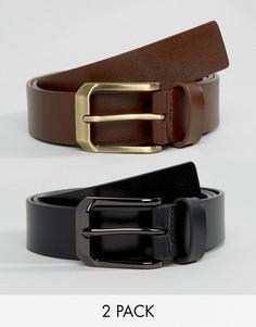 2 кожаных ремня (черный и коричневый) Smith And Canova - Черный