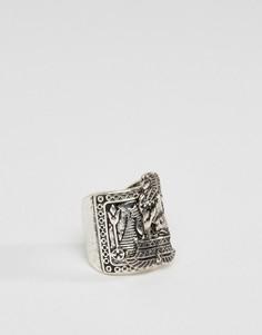 Шлифованное серебряное кольцо в египетском стиле ASOS - Серебряный