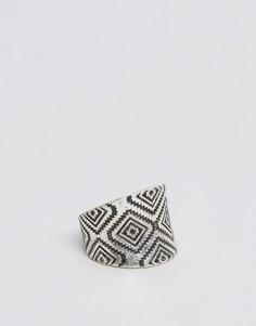 Серебристое кольцо геометрической формы ASOS - Серебряный