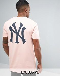 Длинная футболка Majestic New York Yankees эксклюзивно для ASOS - Розовый