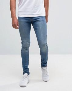 Выбеленные джинсы с напылением Brooklyn Supply Co Hunter - Синий