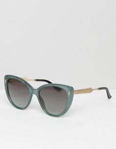 Солнцезащитные очки кошачий глаз Gucci - Синий