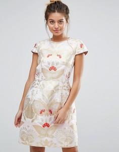 Цельнокройное платье Ted Baker Opulent Tulip - Кремовый