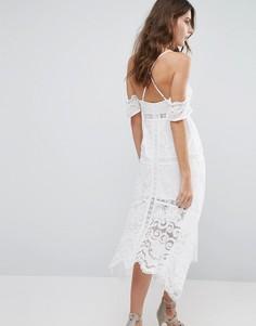 Платье с открытыми плечами Foxiedox Kiera - Белый