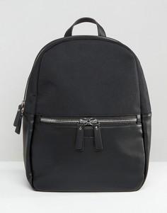 Рюкзак из кожи и нейлона Smith And Canova - Черный
