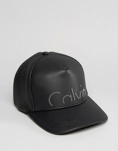 Кепка из искусственной кожи Calvin Klein эксклюзивно для ASOS - Черный