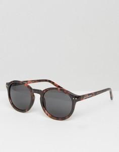 Солнцезащитные очки в круглой оправе Cheap Monday - Коричневый