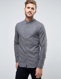 Черная приталенная джинсовая рубашка Only & Sons - Черный
