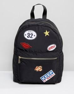Рюкзак с вышитыми нашивками ASOS - Мульти