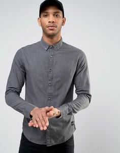 Выбеленная серая джинсовая рубашка Only & Sons - Зеленый