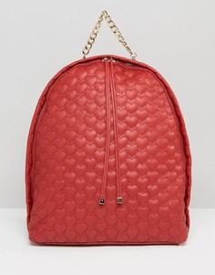 Стеганый рюкзак Yoki - Красный