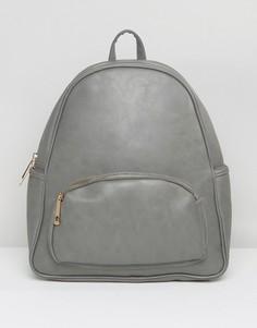 Рюкзак с карманом на молнии спереди Yoki - Серый