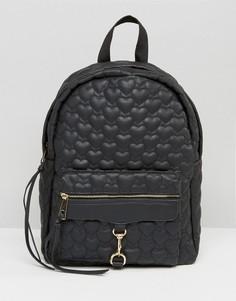 Стеганый рюкзак Yoki - Черный
