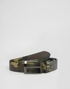 Камуфляжный кожаный ремень Smith And Canova - Зеленый