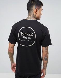 Футболка с принтом на спине Brixton Wheeler - Черный