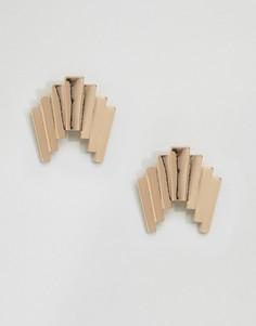 Серьги-гвоздики в стиле 80‑х ASOS - Золотой