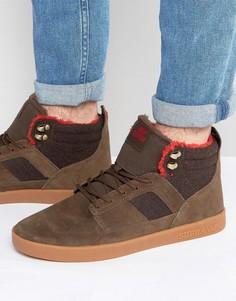 Замшевые кроссовки средней высоты Supra Bandit - Коричневый