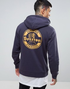 Худи с принтом на спине Brixton Soto - Темно-синий