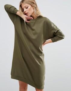 Удлиненное трикотажное платье Noisy May - Зеленый