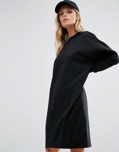 Удлиненное трикотажное платье Noisy May - Черный