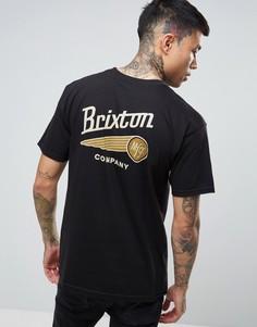 Футболка с принтом на спине Brixton Maverick - Черный