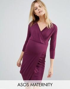 Платье мини с запахом для беременных ASOS Maternity - Красный