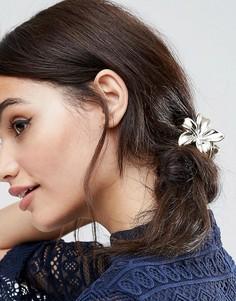 Золотистая заколка для волос в виде цветка ASOS - Золотой