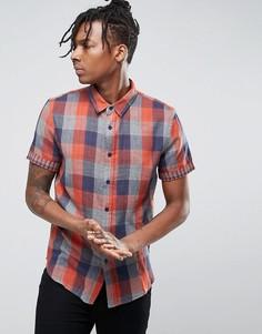 Рубашка в клетку Another Influence - Оранжевый