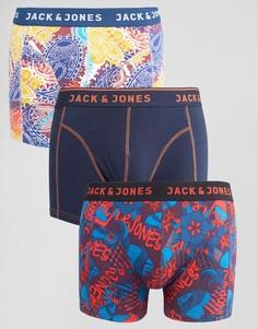 Набор из 3 боксеров-брифов с принтом Jack & Jones - Мульти