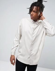 Oversize-рубашка из вискозы Another Influence - Бежевый