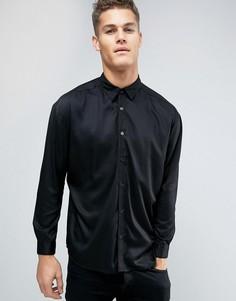 Oversize-рубашка из вискозы Another Influence - Черный
