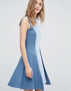 Платье-трапеция без рукавов Closet - Синий