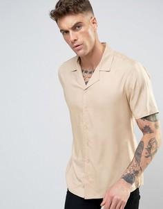 Рубашка с отложным воротником Another Influence - Бежевый