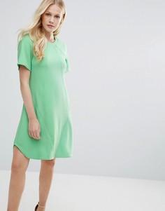 Платье-туника с отделочными швами Closet - Зеленый