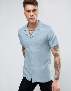 Рубашка с отложным воротником Another Influence - Синий