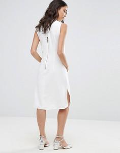Платье-туника без рукавов с воротником Closet - Белый